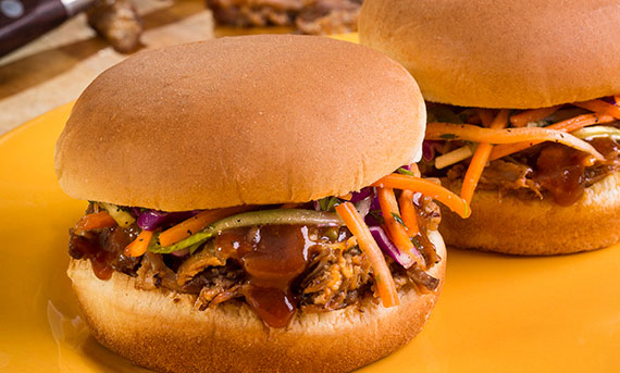 Ball Park's Pulled Pork Sandwich with Sweet & Sour Slaw