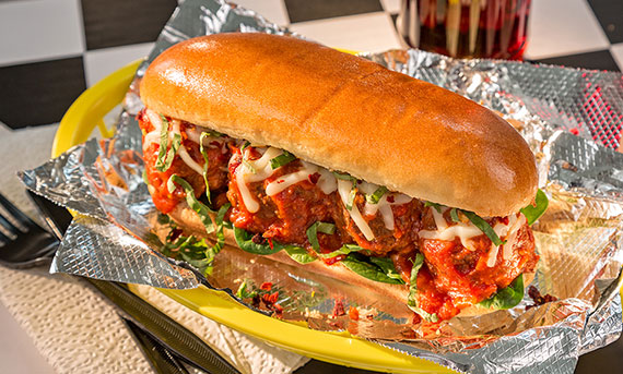 A photo of Ball Park's Meatball Sub Sandwich