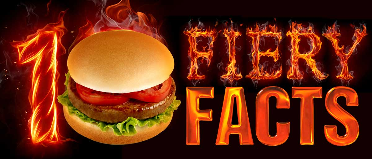 10 Fiery Hamburger Facts