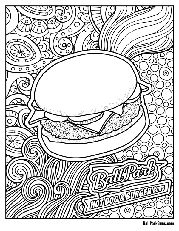 Burger Coloring Sheet